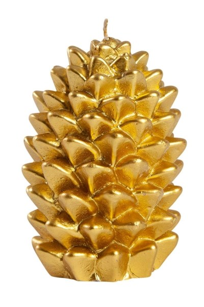 Mizalle Home - Golden Color Cone Candle (11X8)