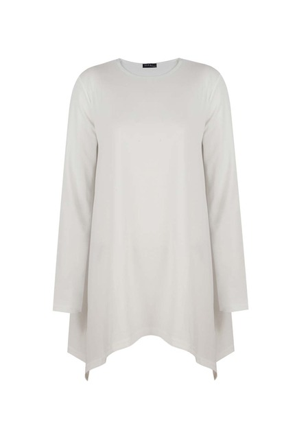 Mizalle - Knitted Crepe Blouse (Cream)