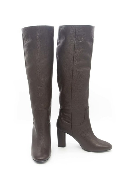 Mizalle - Leather Long Boots (Brown)