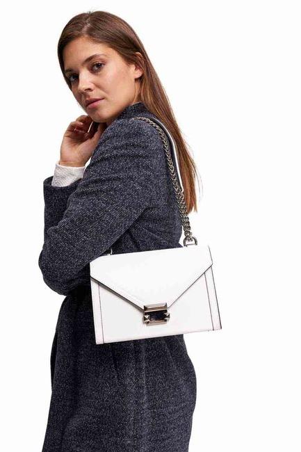 Mizalle - Leather Shoulder Bag (White)