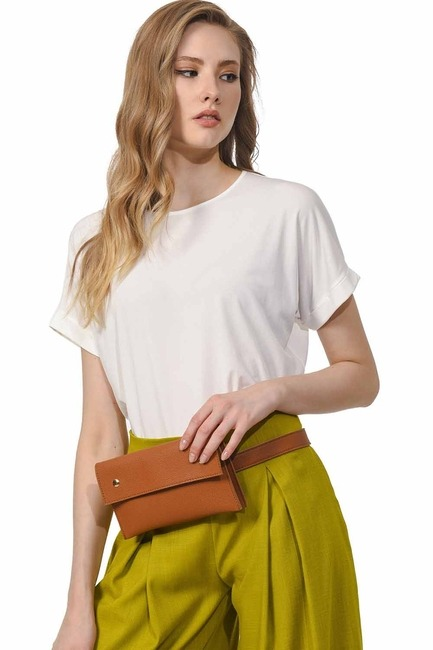 Mizalle - Leather Waist Bag (Tan)