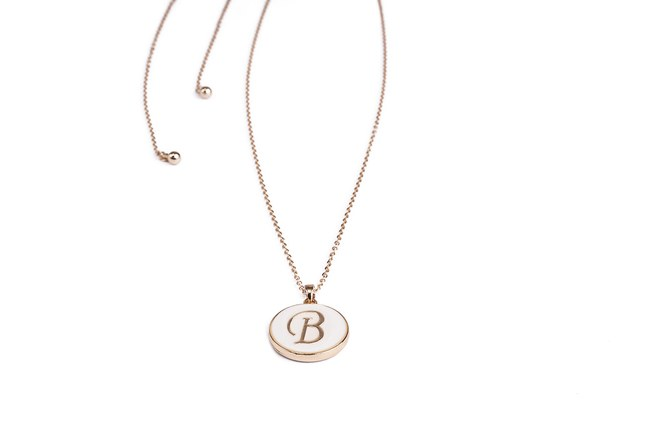 Mizalle - Letter Necklace (Letter B)