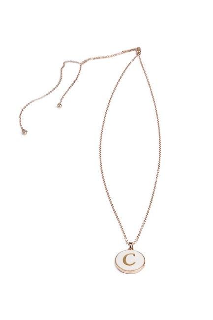 Mizalle - Letter Necklace (Letter Ç)