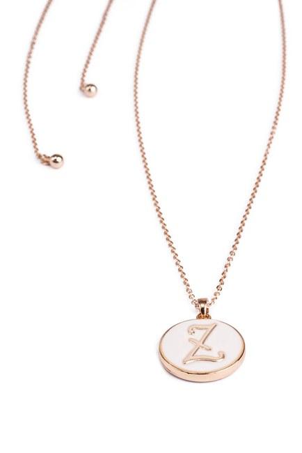 Mizalle - Letter Necklace (Letter Z)
