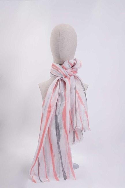 Mizalle - Line Patterned Shawl (Pink)