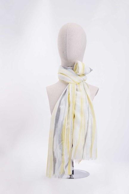 Mizalle - Line Patterned Shawl (Yellow)