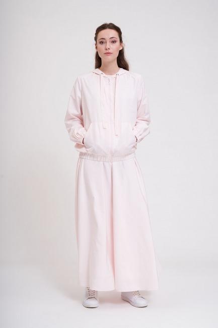 Mizalle - Micro Hooded Bomber Jacket (Pink)