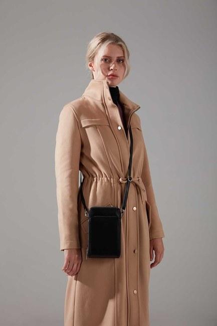 Mizalle - Multi Pocket Shoulder Bag (Black)
