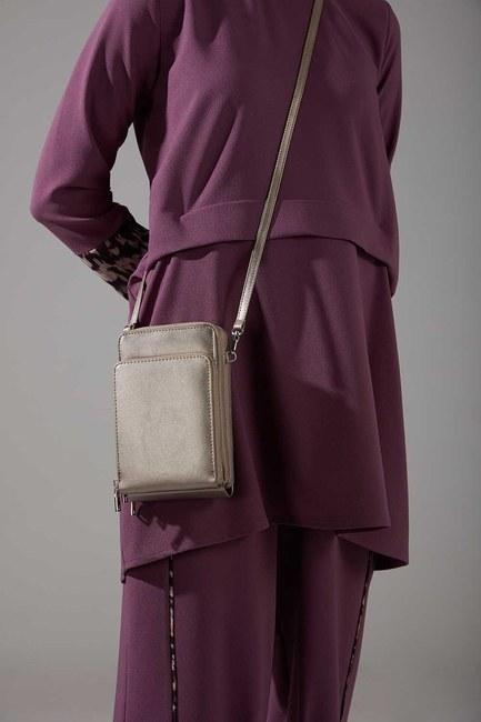 Mizalle - Multi Pocket Shoulder Bag (Mink)