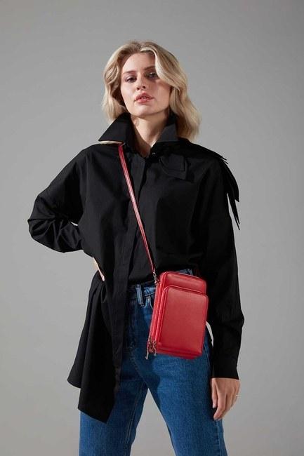 Mizalle - Multi Pocket Shoulder Bag (Red)