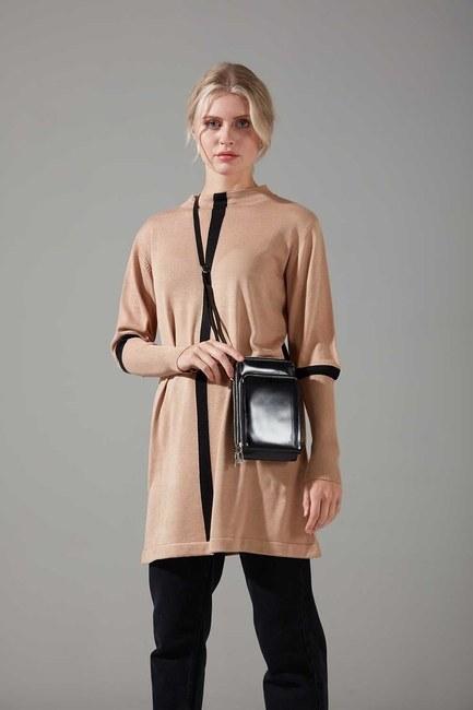 Mizalle - Multi Pocket Shoulder Bag (Shiny Black)