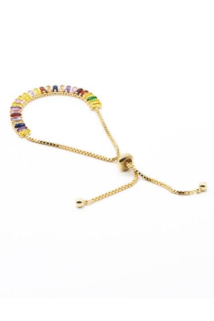 Mizalle - Multi Stone Bracelet (Mix)