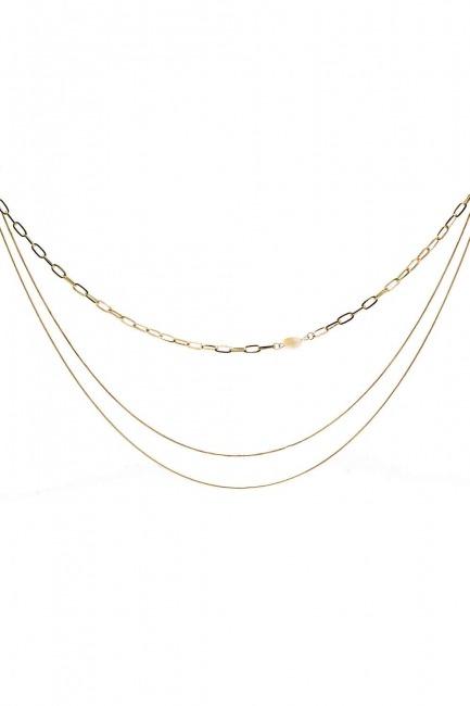 Mizalle - Multiple Chain Necklace