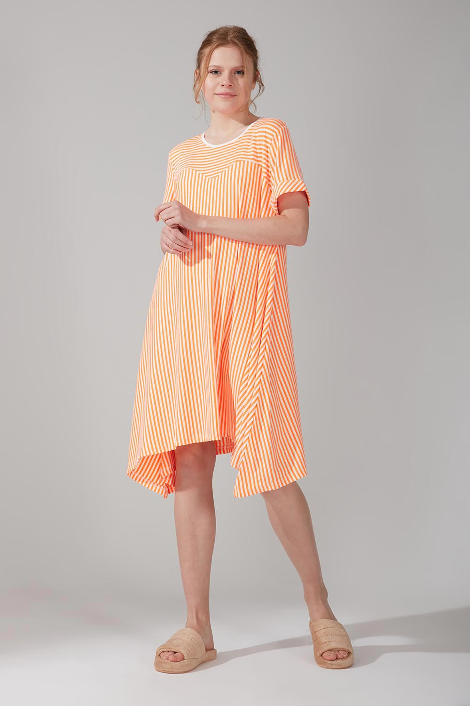 Mizalle - Neon Asymmetric Nightgown (Coral)