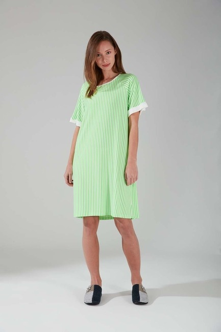 Mizalle - Neon Striped Nightgown (Green)