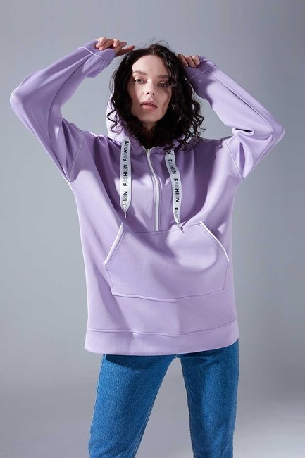 Mizalle - Neon Sweatshirt (Lilac)