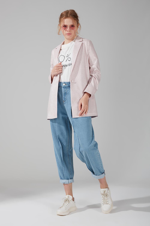 Mizalle - One-Buttoned Jacket (Pink)
