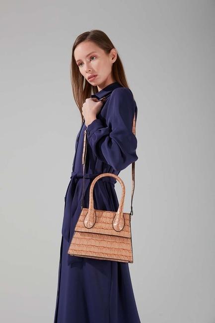 Mizalle - One Handle Shoulder Bag (Tan)