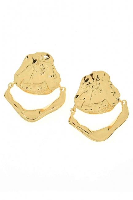 Mizalle - Oyster Earring (Big) (St)