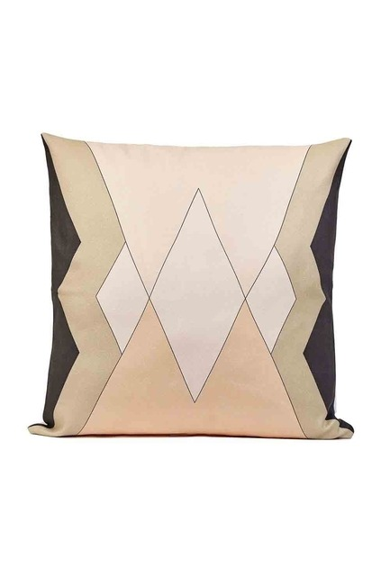 Mizalle - Patterned Pillow Cover 45x45 (Black)