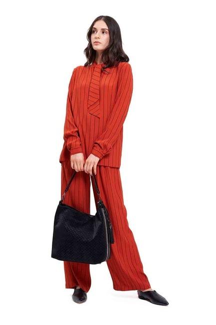 Mizalle - Patterned Shoulder Bag (Black)