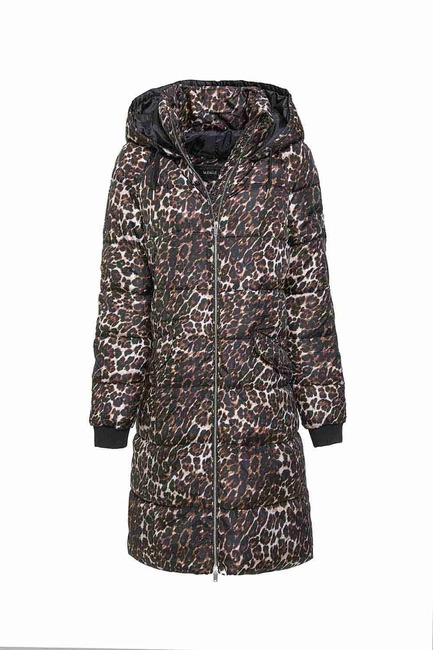 Mizalle - Phl Inflatable Coat (Leopard)