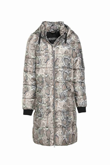Mizalle - Phl Inflatable Coat (Snake Patterned)
