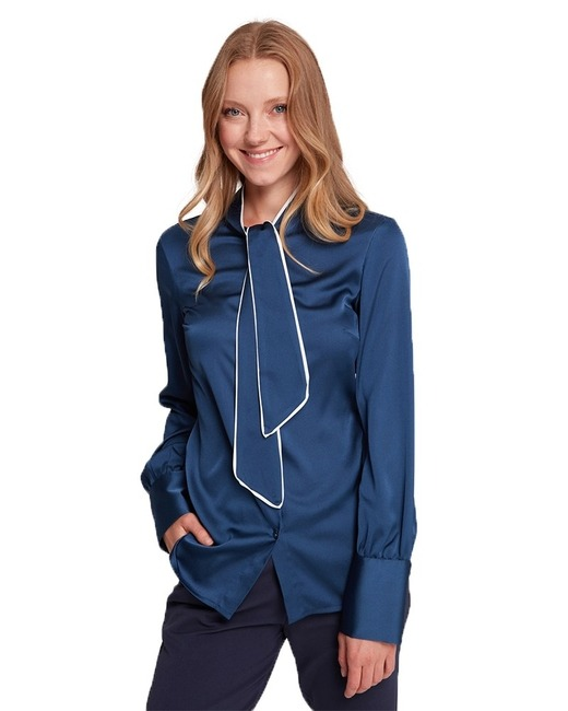 Mizalle - Pipped Detailed Blouse (Indigo)