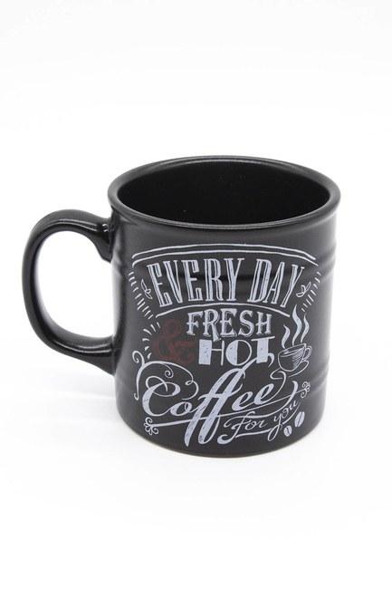 Mizalle Home - Platinum Cylinder Mug (Black)