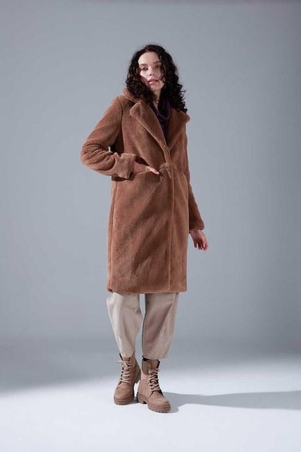 Plush Detailed Coat (Mink) - Thumbnail