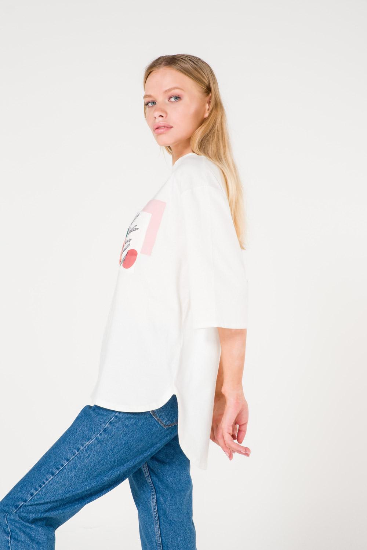 Pocket Printed White T-Shirt