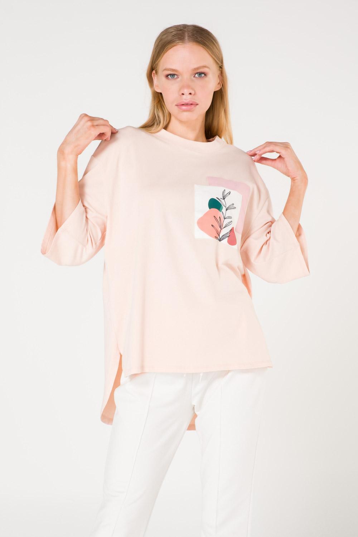 Pocket Printed Powder T-shirt