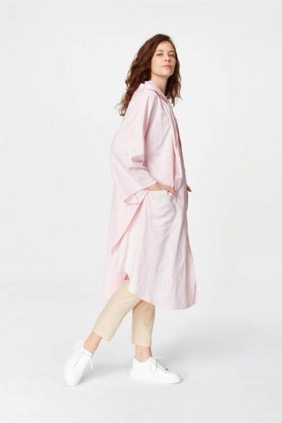 Mizalle - Poncho Design Raincoat (Light Pink) (1)