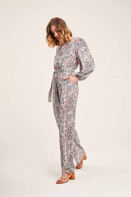 Mizalle - Printed Patterned Jumpsuit (Mix)