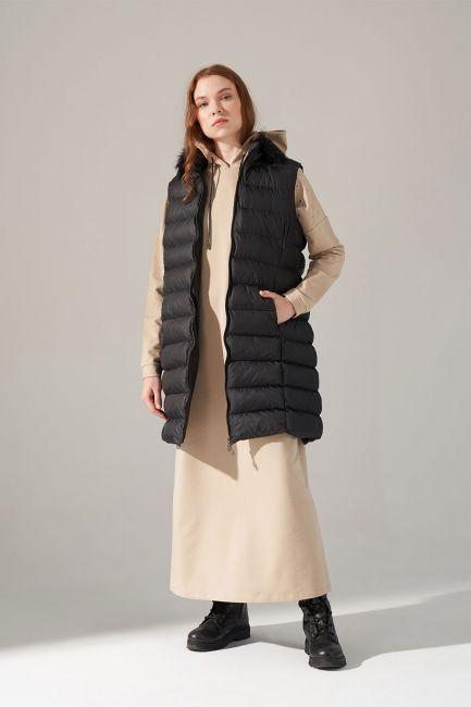 Mizalle - Puffer Vest (Black)