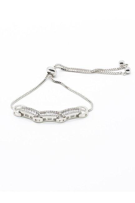 Mizalle - Rectangle Bracelet (Grey)