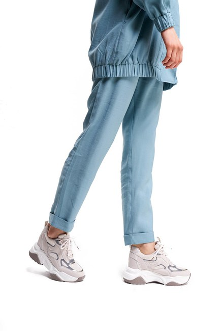 Mizalle - Reflective Sneakers (Beige)