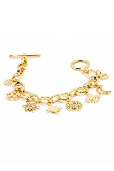 Mizalle - Ring Detailed Bracelet (Star)