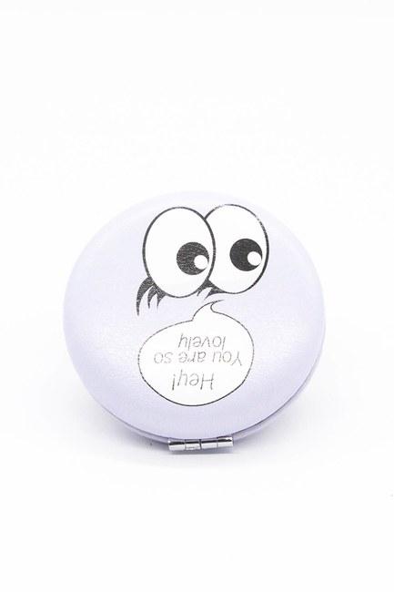 Mizalle Home - Round Pocket Makeup Mirror (Lilac)