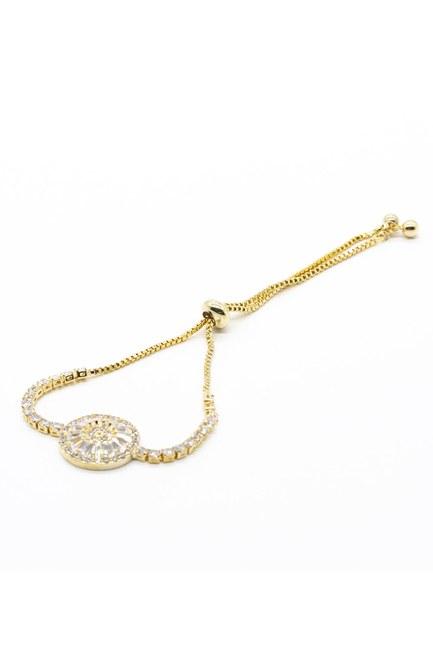 Mizalle - Round Stone Bracelet (Yellow)