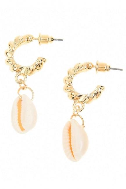 Mizalle - Sea Shell Earrings (St)