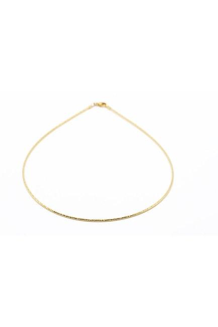 Mizalle - Shiny Chain Thin Necklace (Yellow)