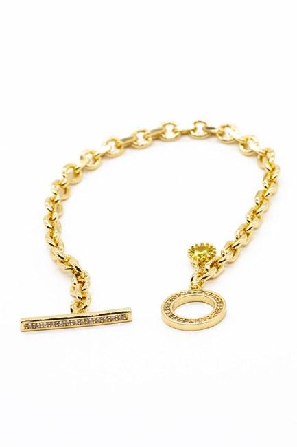 Mizalle - Shiny Ring Shaped Bracelet (Yellow)