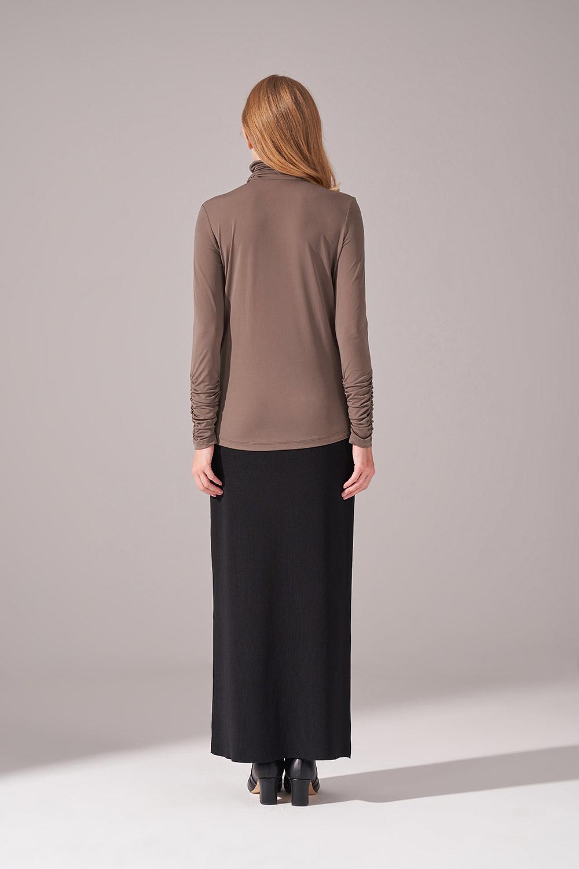 Shirred Sandy Blouse (Khaki)