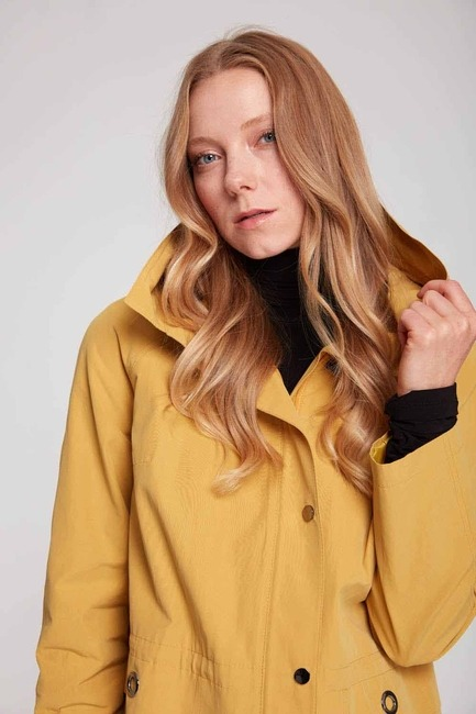Short Hooded Coat (Yellow) - Thumbnail