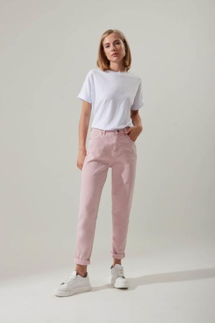 Mizalle - Skinny Denim Trousers (Pink)
