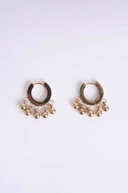 Mizalle - Small Steel Earrings (Yellow)