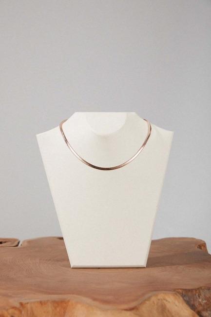 Mizalle - Steel Chain Necklace (Rose)
