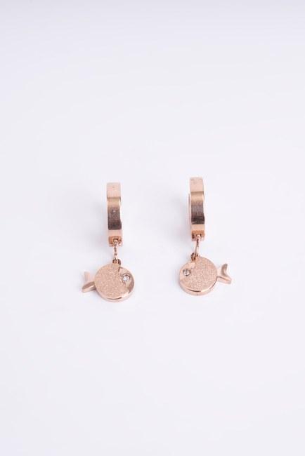 Mizalle - Steel Fish Earrings (Yellow)