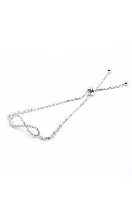 Mizalle - Stoned Infinity Bracelet (Grey)